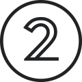 Graphic of number 2