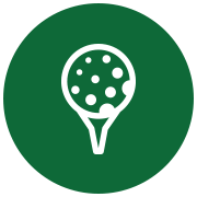 Graphic of a golf ball on a tee